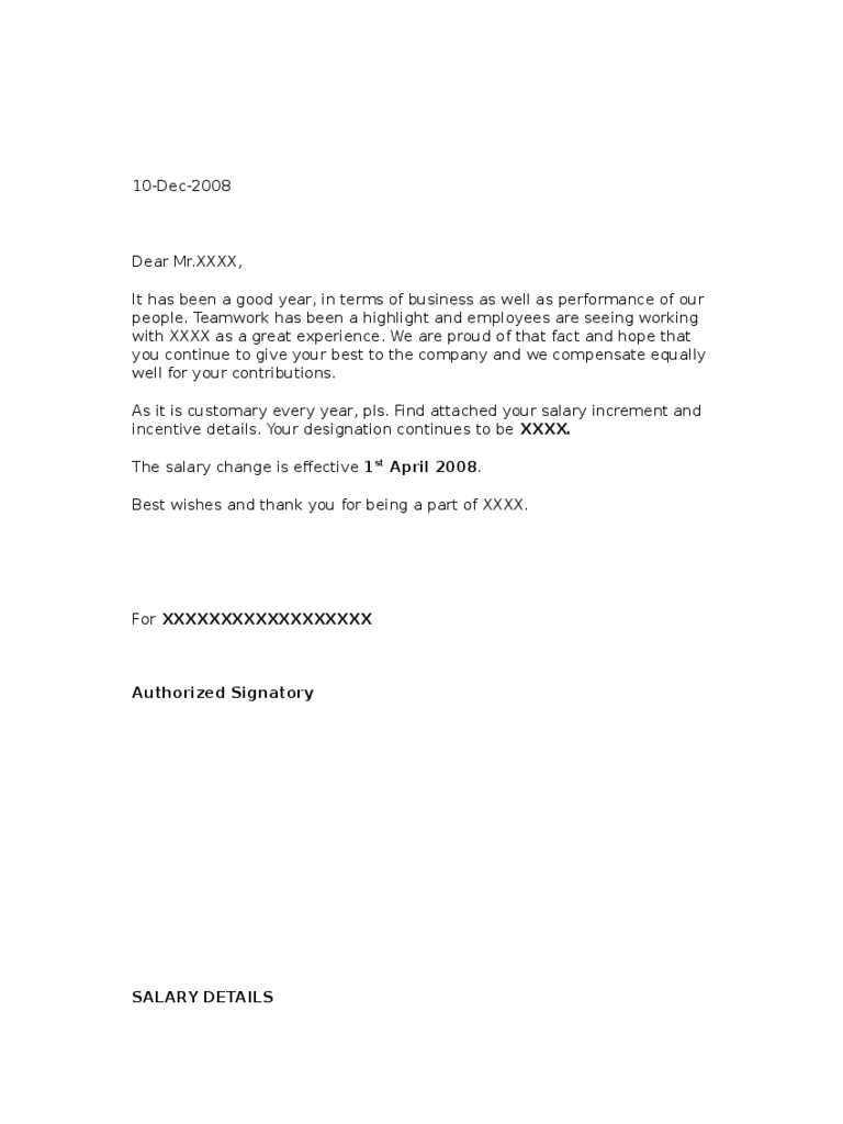 doc request for salary increment letter format doc768994 salary hike letter format sample request request for salary increment letter format