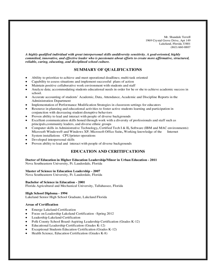 resume examples samples of qualifications for a resume resume