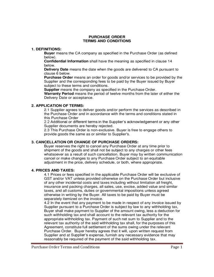 purchase order resume