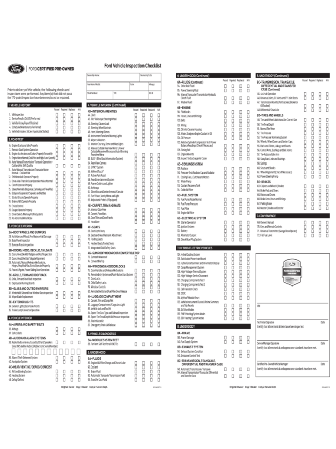Free Printable Vehicle Inspection Form - The Best Vehicle 2018