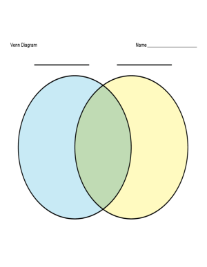 2Color Venn Diagram Template Free Download