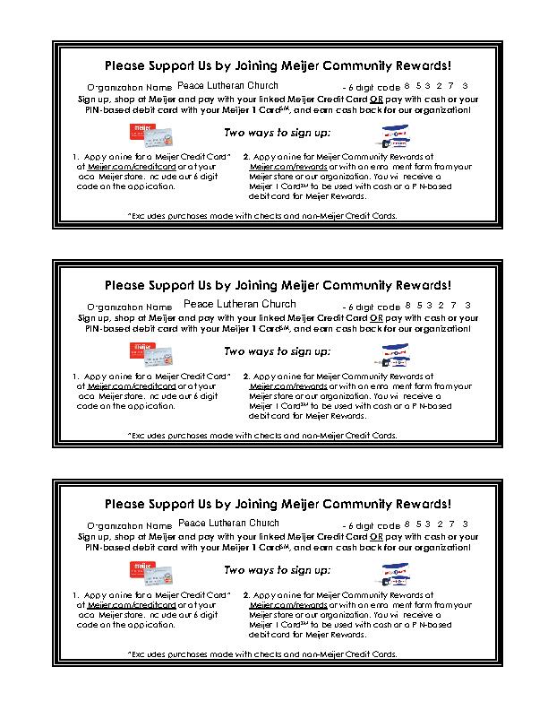 Meijer Credit Card Application Form