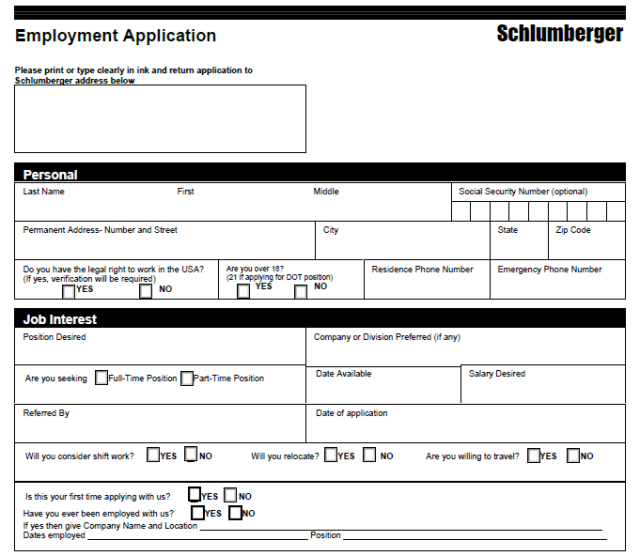 Looking for Schlumberger Job Application Form? Read This!