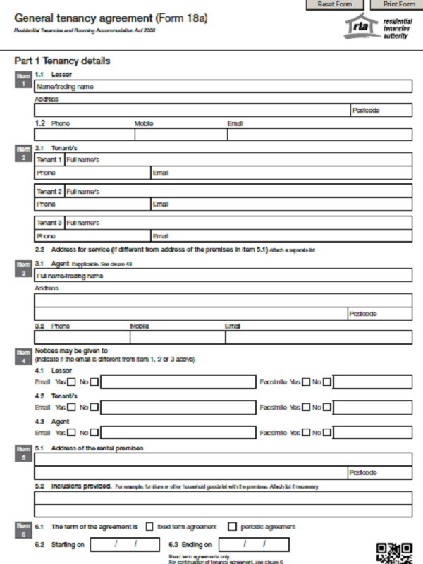Tenancy Agreement Form PDF