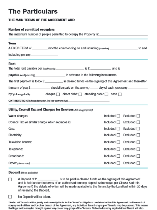 Assured Shorthold Tenancy Agreement Form
