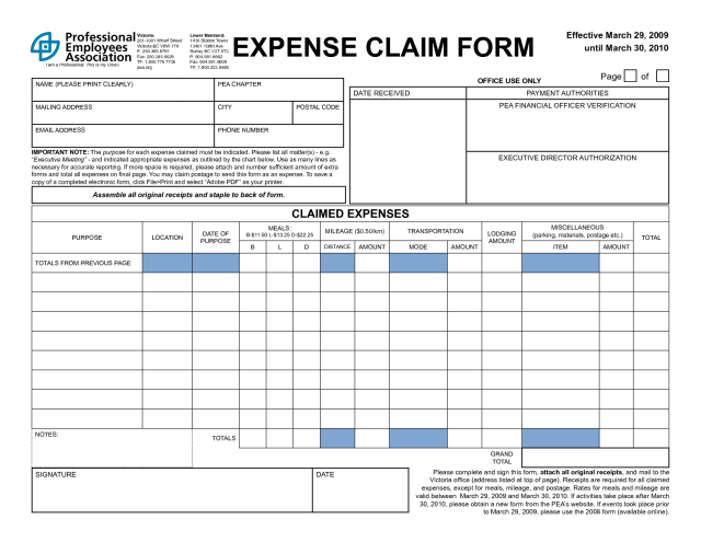 Additional business forms example