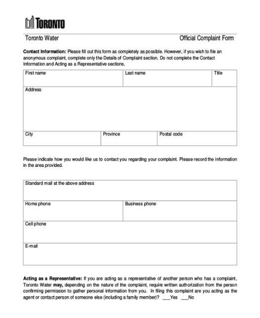Official business forms
