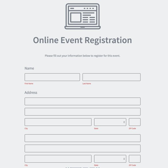 Free Online Event Registration