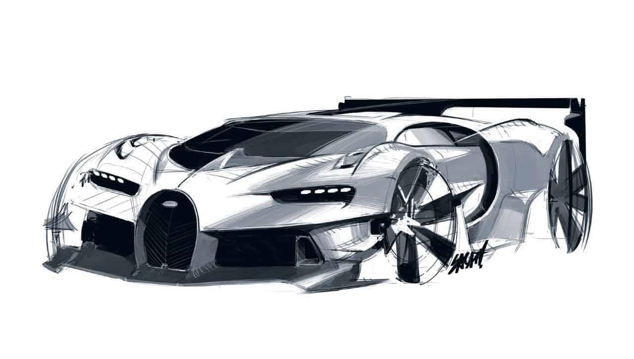 Bugatti Vision Gran Turismo Design Sketches