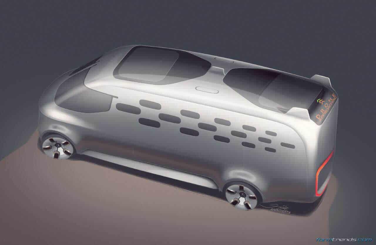 Mercedes-Benz Vision Van Design Sketches and Renderings