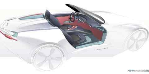 Mazda MX5 interior concept by Tarek Ashour