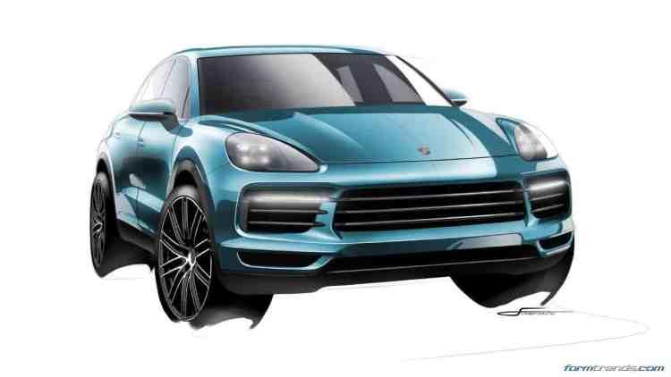 Porsche Cayenne (2018) sketch
