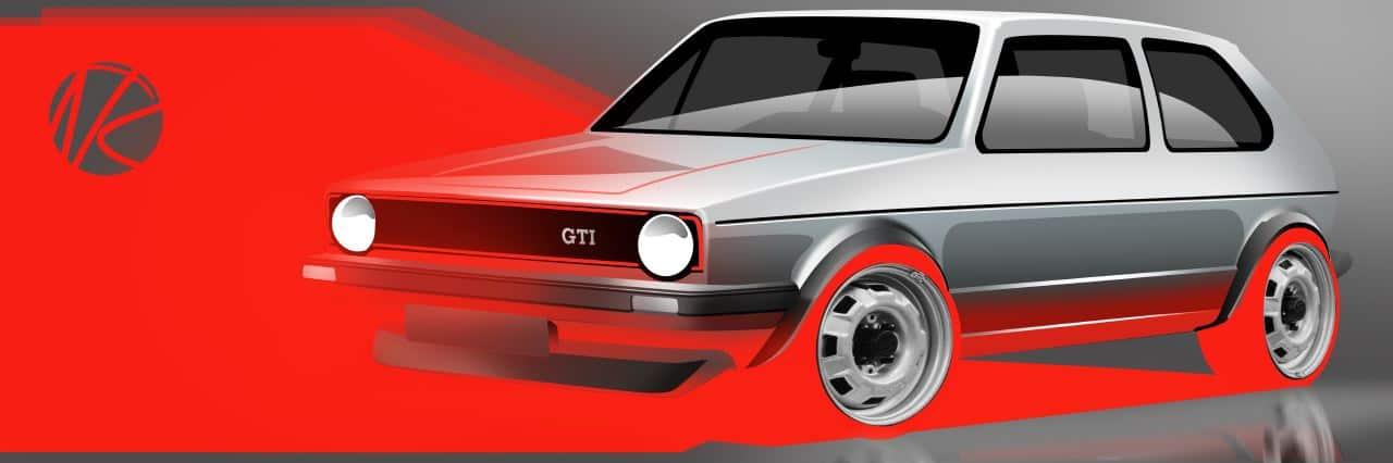 Volkswagen Mk1 Golf Homage Sketch By Niels Van Roij