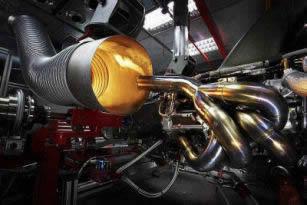 Engine on dyno