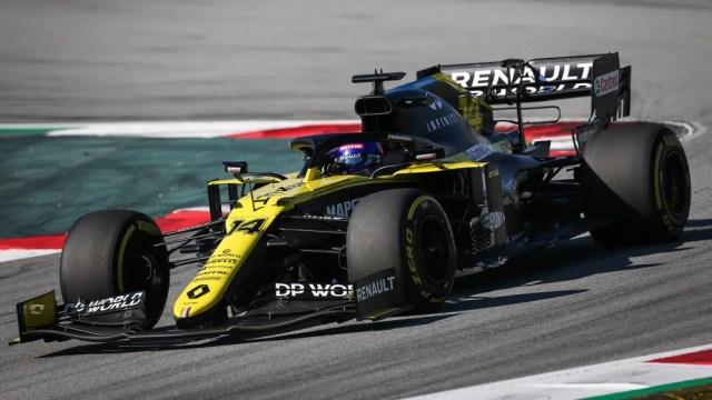 Fernando Alonso testa o RS20 em Barcelona em 13 de outubro de 2020