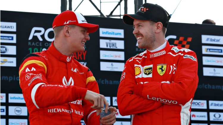 Vettel knocked out by Schumacher in Race of Champions | Formula 1®