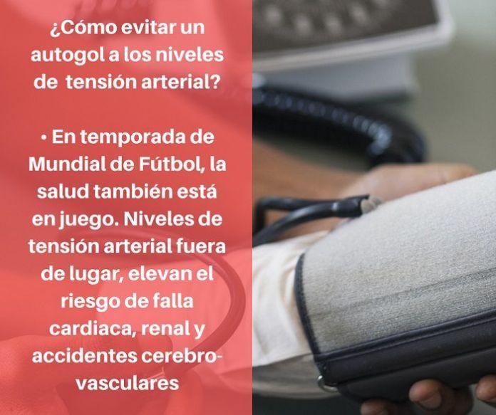 Evite autogoles con la presion arterial - Formula Medica