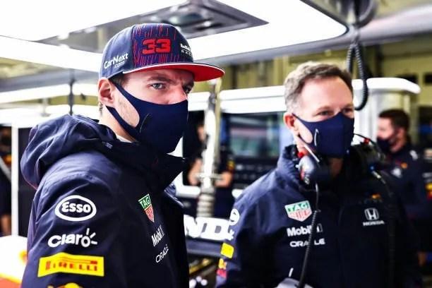 Max Verstappen and Red Bull boss Christian Horner