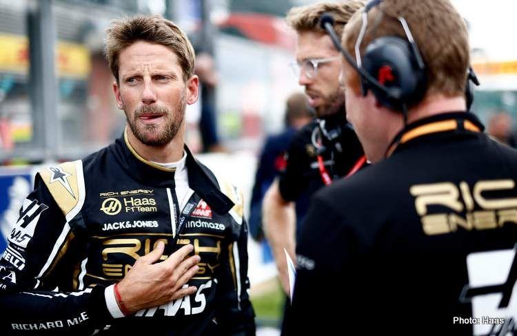 Grosjean con el objetivo de conseguir el 1° podio para Haas