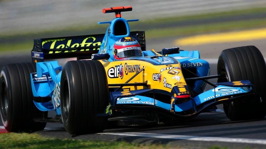 Fernando Alonso rodará con el Renault R25 en Yas Marina