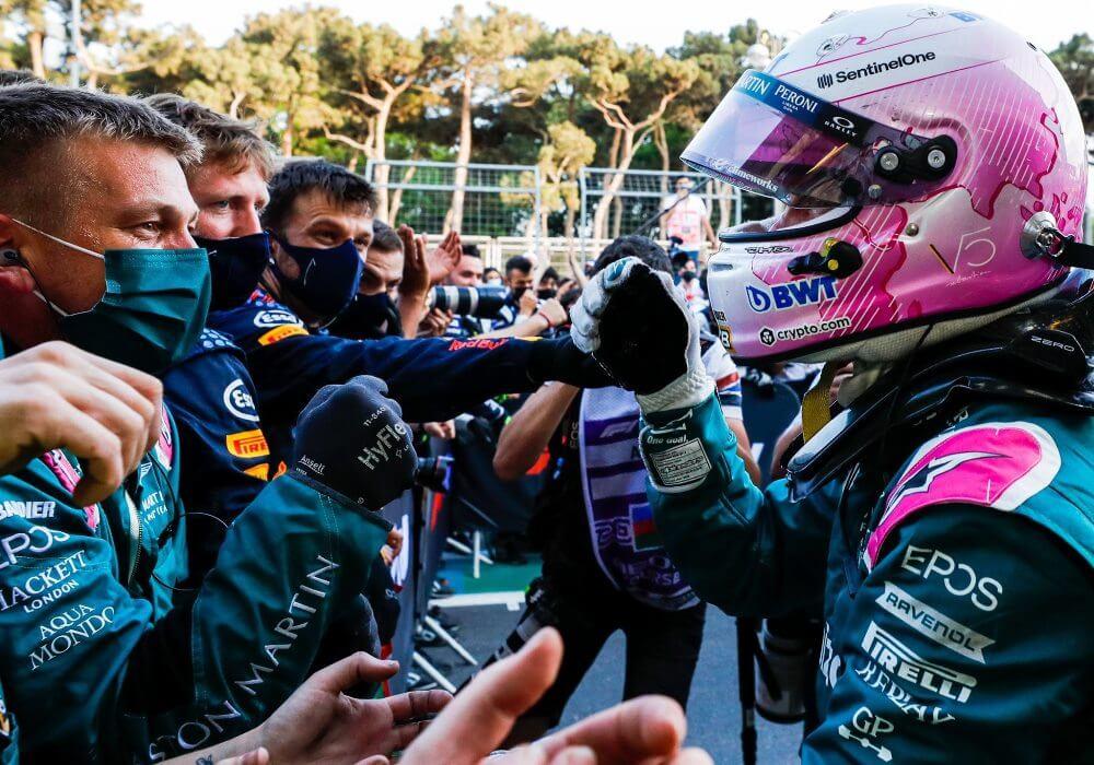 """Sebastian Vettel feliz por el 2° puesto en Bakú: """"Significa mucho para mí este podio"""""""