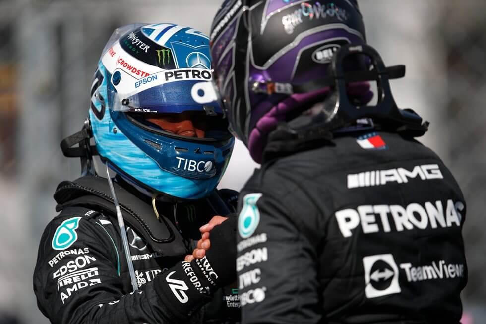 """Valtteri Bottas 2° en clasificación: """"Lewis hoy era realmente insuperable, es bueno tener dos Mercedes al frente"""""""
