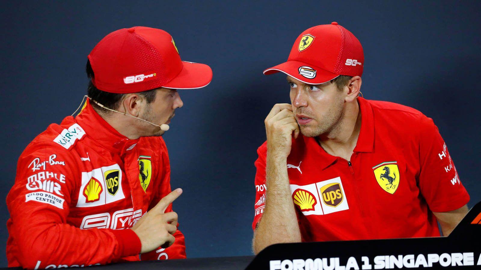 Leclerc confiesa que nunca hubo tensiones con Vettel e incluso lo veía como un hermano mayor en Ferrari