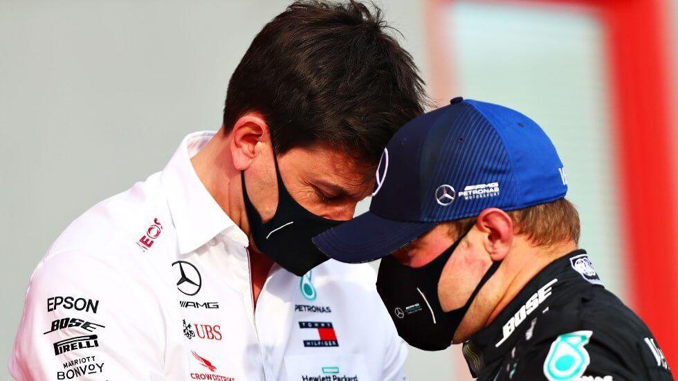 Toto Wolff ayudará a Bottas a buscar un asiento si Mercedes se decide por Russell para 2022