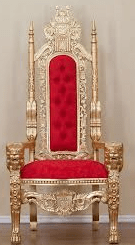 FORMULA ONE Red and Gold King Chair
