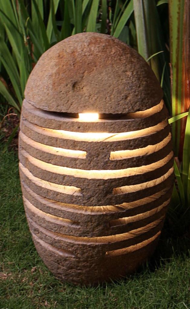 OUTDOOR STONE FLOOR LAMP IP 56