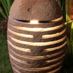 OUTDOOR STONE FLOOR LAMP IP 56