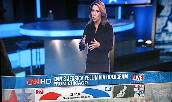 CNN estrena holograma la noche de las elecciones presidensiales