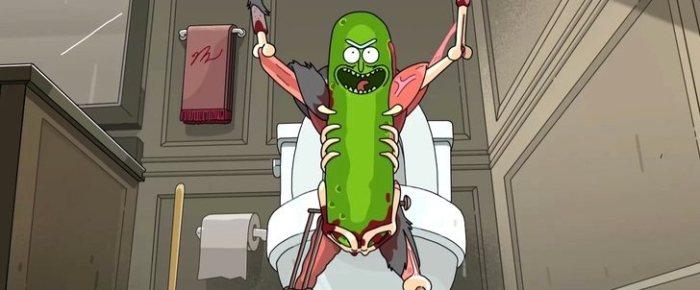Pickle Rick celebra su victoria
