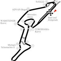 GP van EIFEL: Hamilton evenaart Schumacher