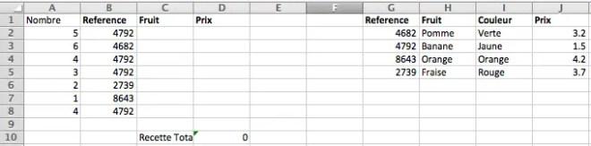 trouver automatiquement des données dans un tableau grace a la fonction recherchev