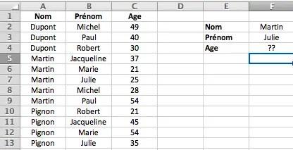 Faire Une Recherche Avec Plusieurs Critères Sur Excel Formule Excel