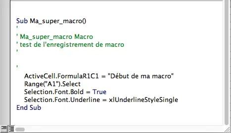 modifier le code d'une macro enregistrée