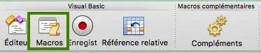 lister les macros dans le menu développeur