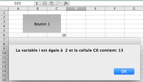 message d'alerte en VBA