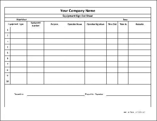 Army key control log form for Key register template