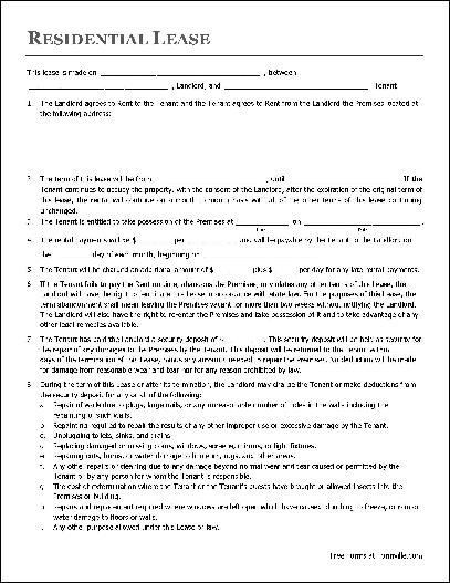 Letting Agreement Template Free. Blank Lease Agreement Form Fill