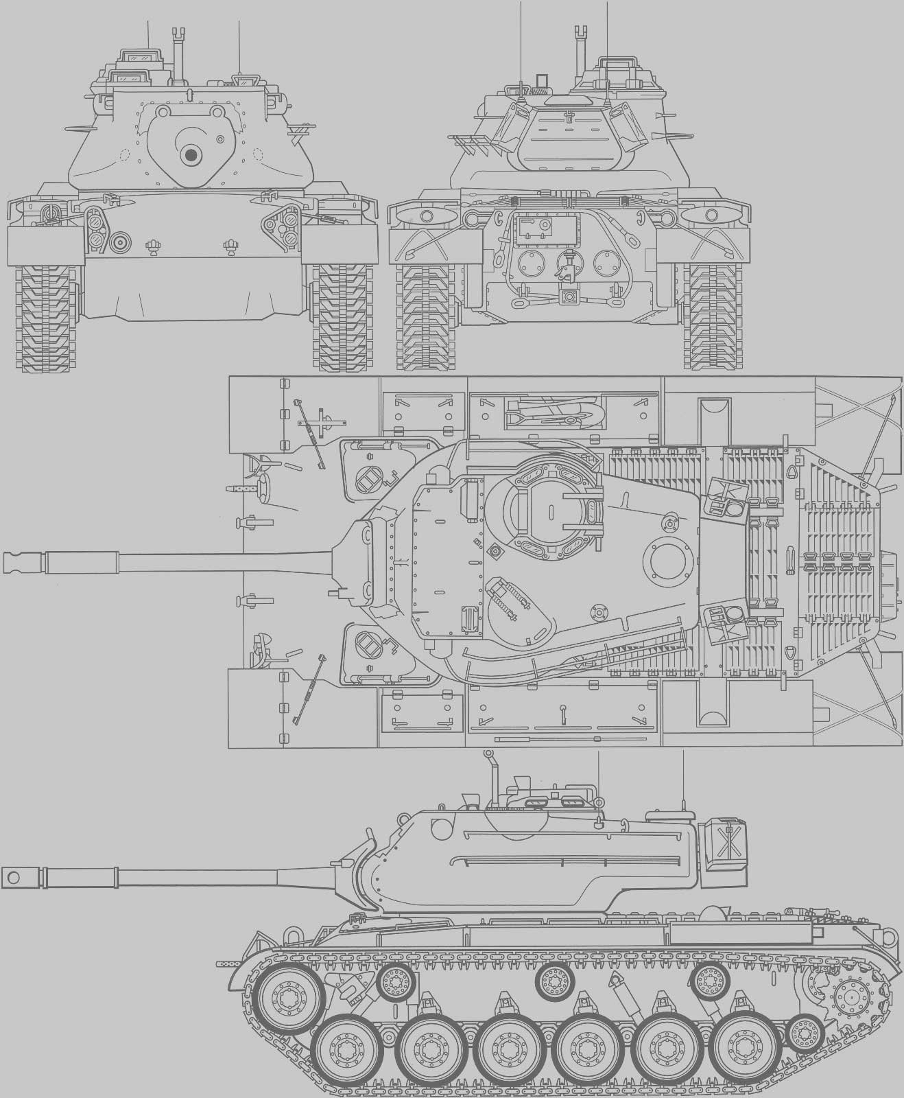 Blueprint M 47 Patton Tank