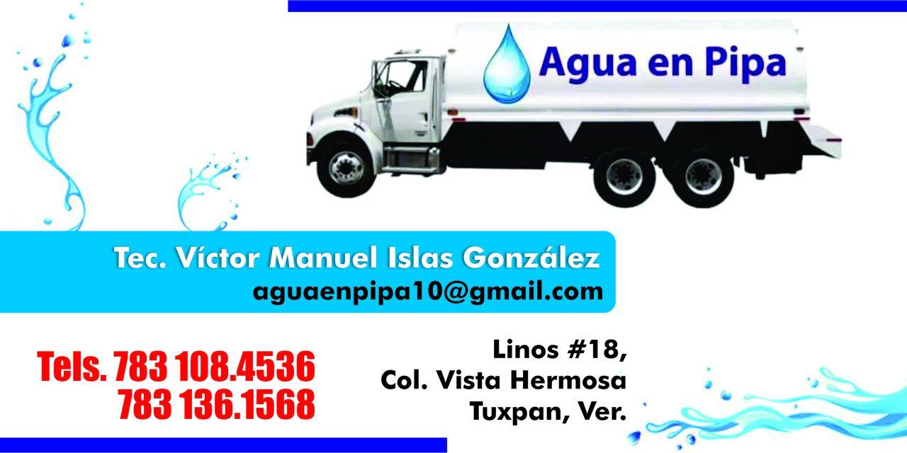 Agua en Pipa