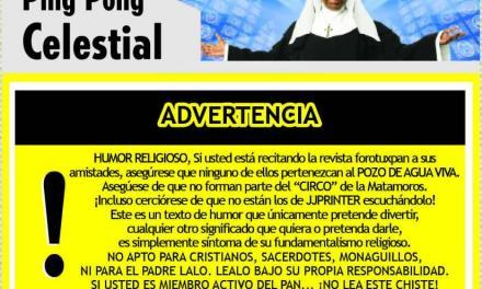 PING PONG CELESTIAL – ¡EL OBISPO DEL AMOR!
