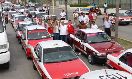 Transportistas con Héctor Yunes y Michelle Gustin