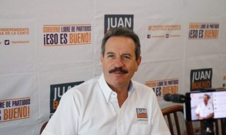 Panistas tienen vergüenza y votarán por la candidatura Independiente: Juan Bueno Torio