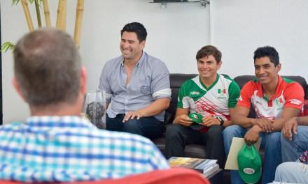 Se reúne RRD con atletas tuxpeños