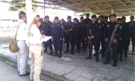 Aplican evaluación a Elementos de la Policia Estatal  región norte