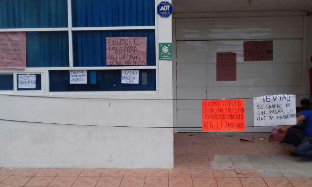 Trabajadores de grupo EVYA exigen  pago de su salario