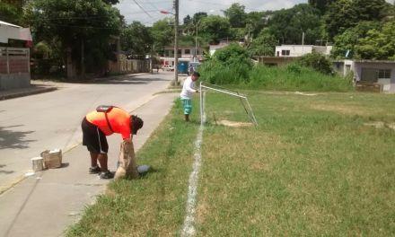 Refuerzan Limpieza en Espacios Deportivos